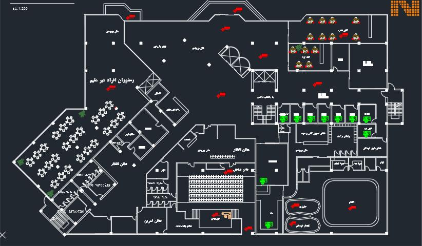 نقشه کامل هتل با مدارک کامل