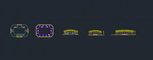 طرح استادیوم ورزشی چند منظوره با تمامی مدارک