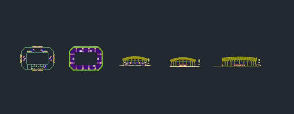 Multipurpose sports stadium plan (4)