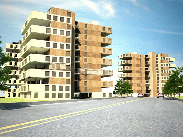 پروژه کامل مجتمع طرح 5 معماری