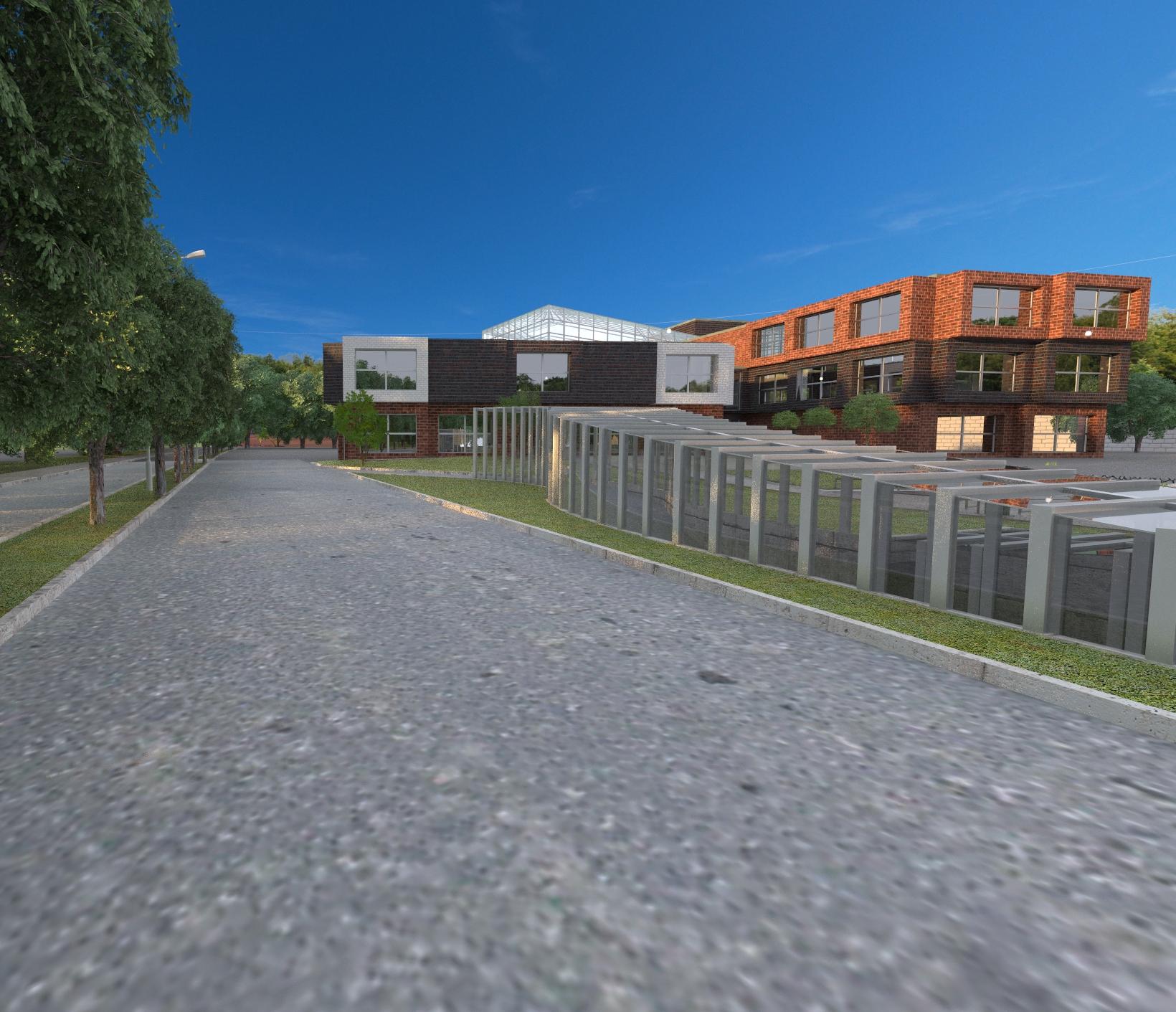 طرح معماری مدرسه با مدارک کامل