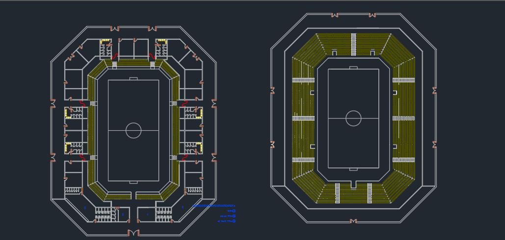 طراحی ورزشگاه با جزئیات