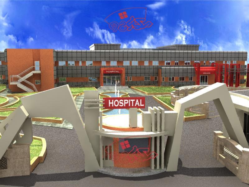 پلان کامل بیمارستان 64 تخت خوابی