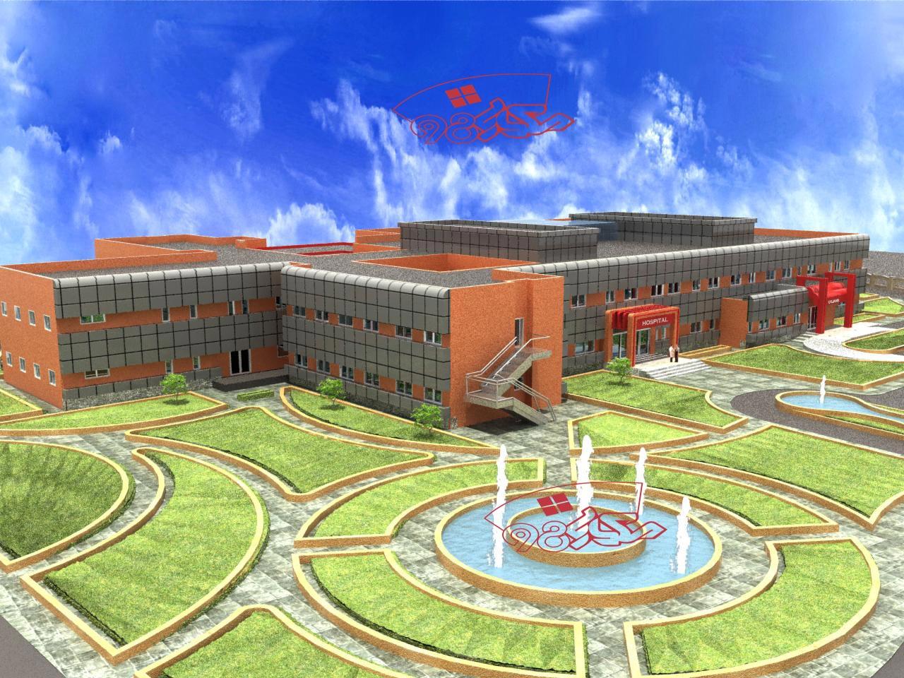 طرح کامل بیمارستان 64 تخته خوابه