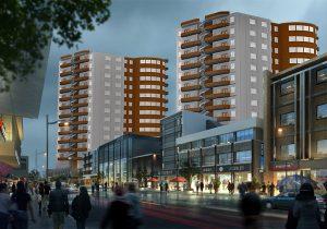 پروژه کامل مجتمع مسکونی 15 طبقه