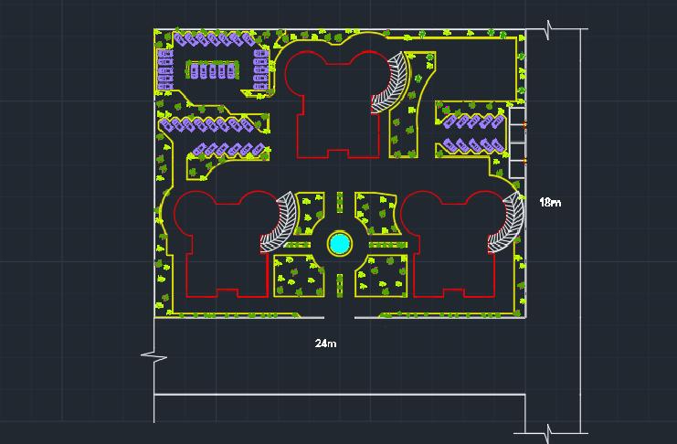طرح مجتمع مسکونی 15 طبقه کامل