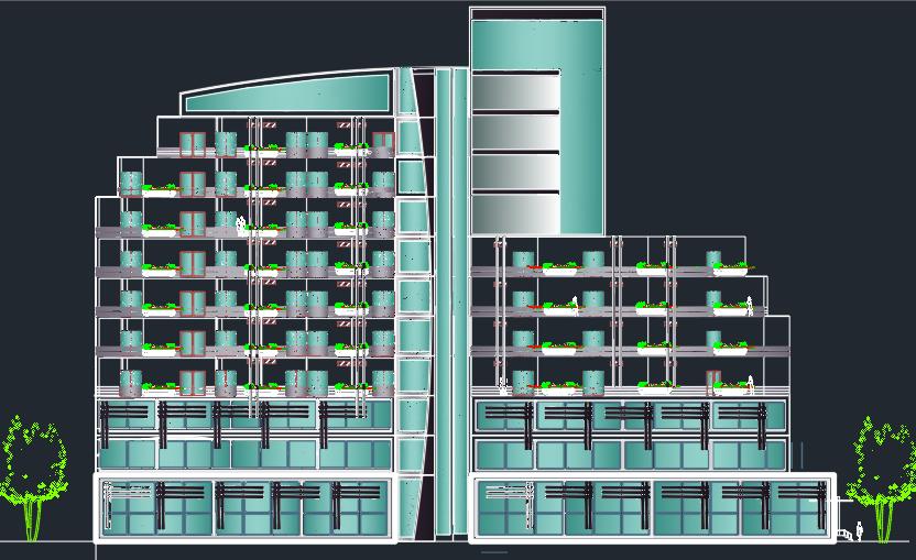 پروژه کامل هتل به سبک پست مدرن با جزئیات