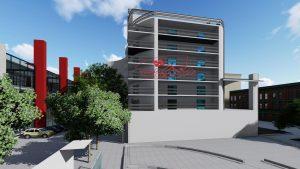 پروژه هتل به سبک پست مدرن با جزئیات کامل