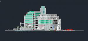 پروژه هتل به سبک پست مدرن با مدارک کامل