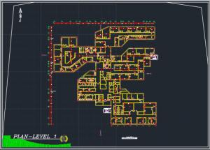 پروژه کامل بیمارستان 64 تختی با جزئیات