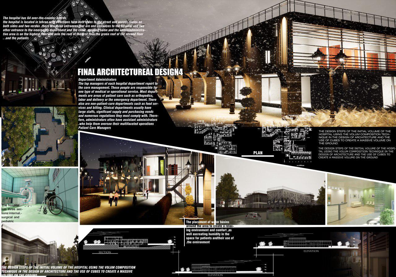 پروژه کامل بیمارستان 64 تختی با تمام جزئیات