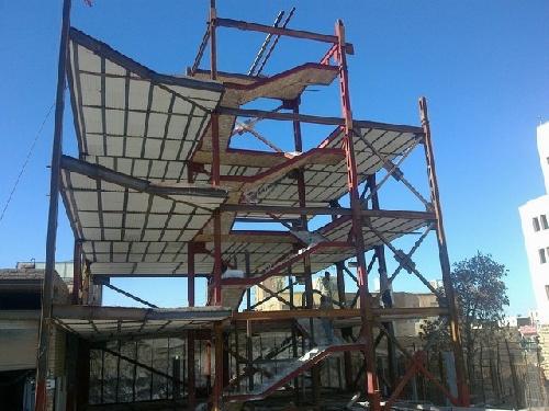 پروژه کامل کارآموزی ساختمان فلزی