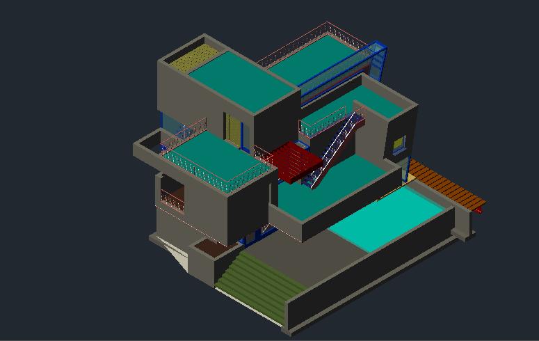 پروژه کامل ویلا مدرن با جزئیات
