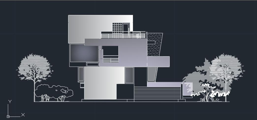 پروژه کامل ویلا مدرن با مدارک کامل