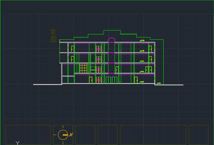 نقشه کامل طراحی فنی ساختمان اداری