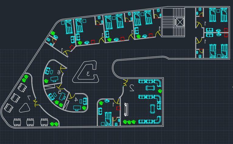 نقشه کامل مرکز درمانی