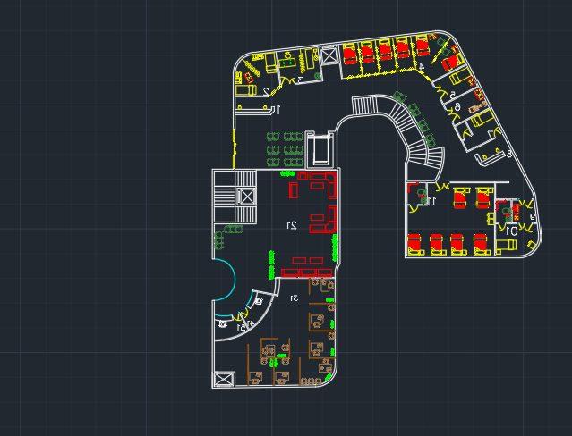 طرح معماری مرکز درمانی