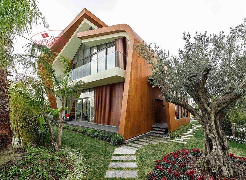 رساله ارشد طراحی ویلا با معماری پایدار