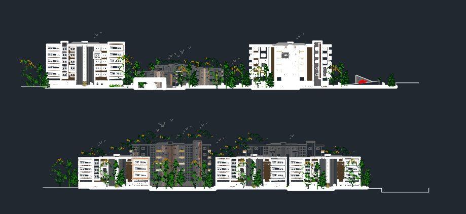پلان کامل آپارتمان مسکونی