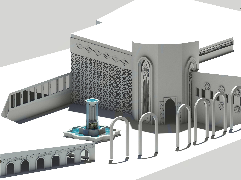 طرح مسجد کامل