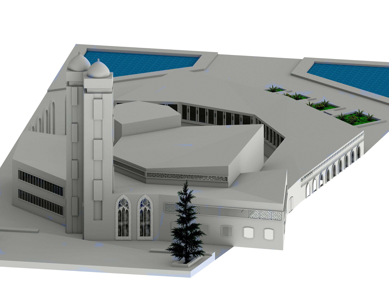طرح معماری کامل مسجد