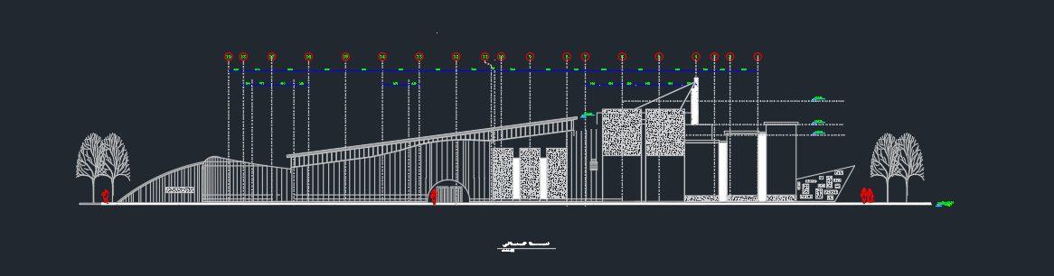 پلان کامل دانشکده هنر و معماری