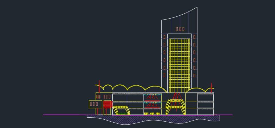 پلان کامل برج اداری تجاری
