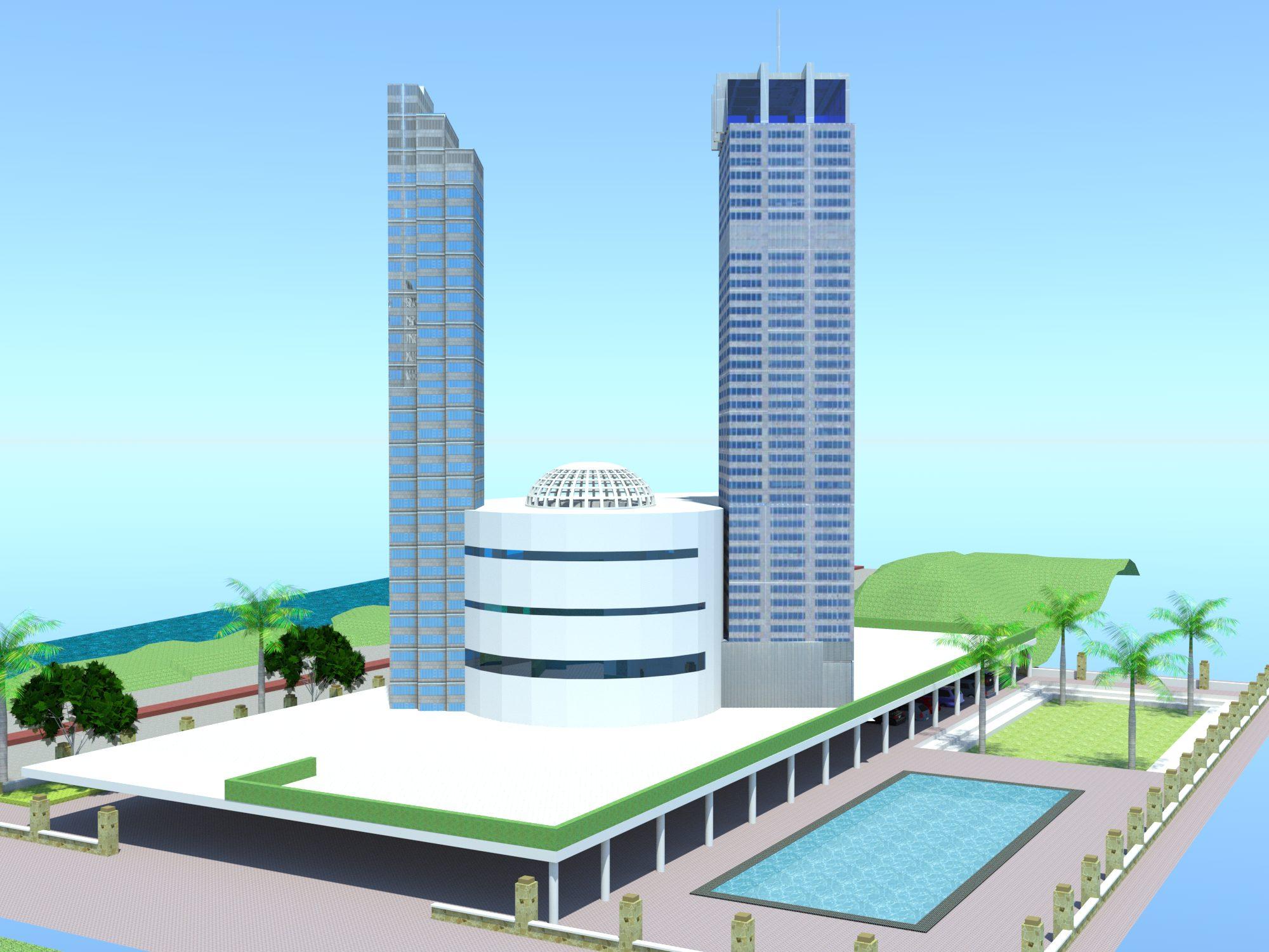 پلان برج اداری تجاری