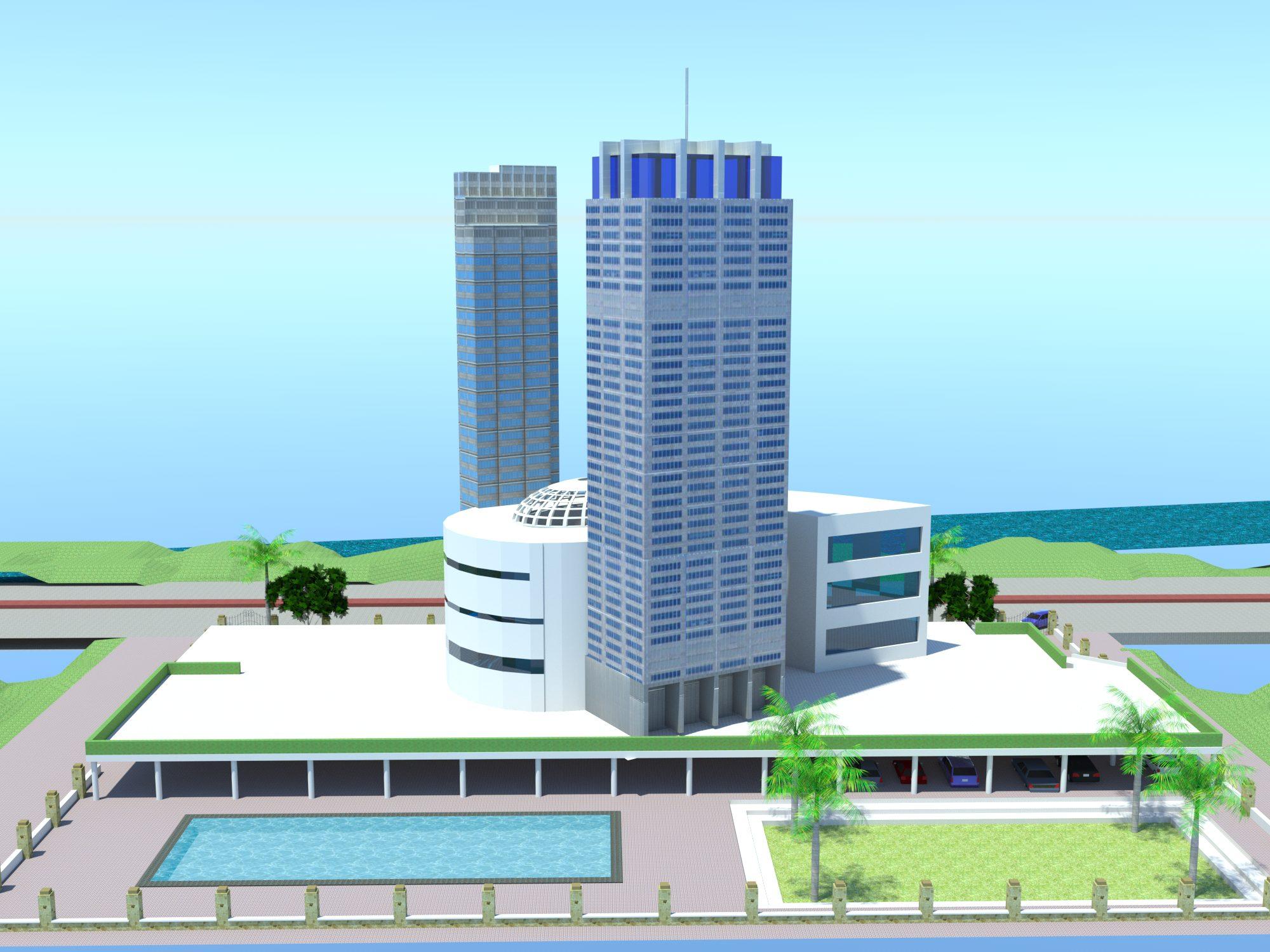 نقشه برج اداری تجاری کامل