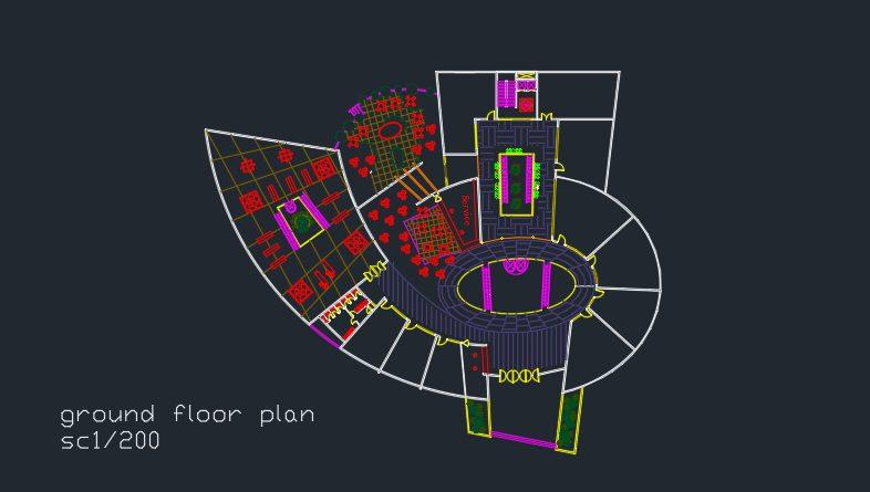 نقشه برج اداری تجاری