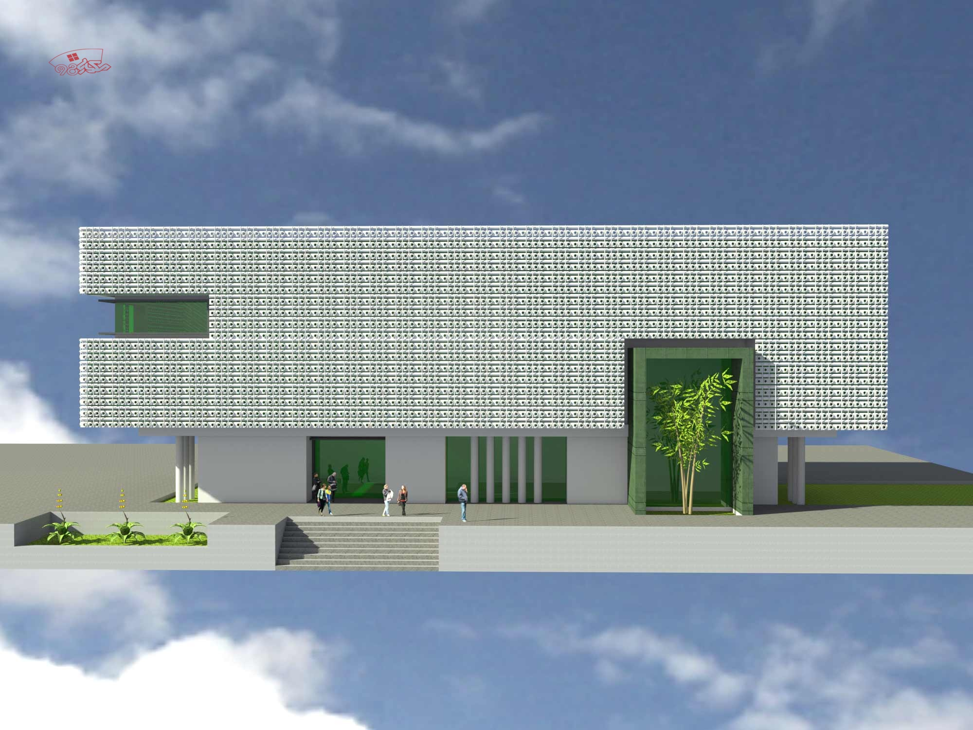 طرح معماری هتل رستوران