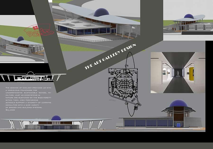 پروژه طراحی گالری هنر