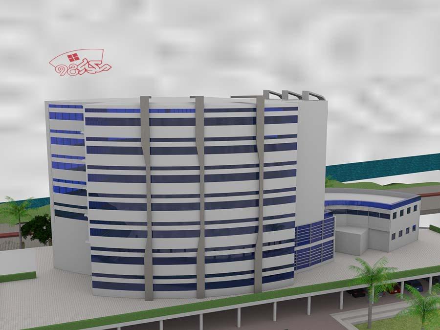 پروژه کامل طراحی بیمارستان طرح 4