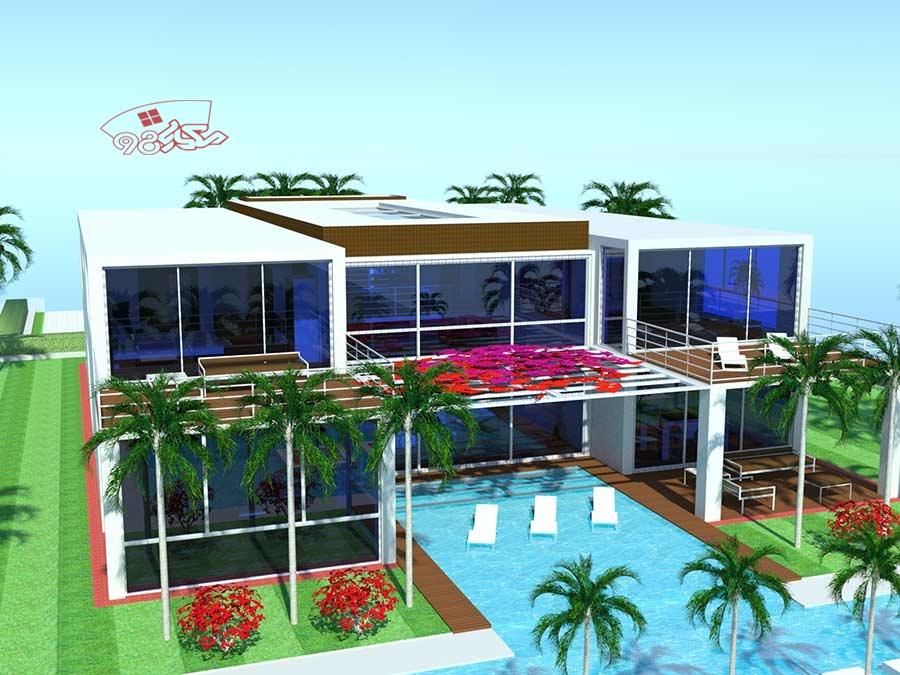 پروژه طراحی ویلای ساحلی