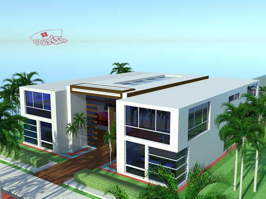 طرح آماده معماری ویلای ساحلی