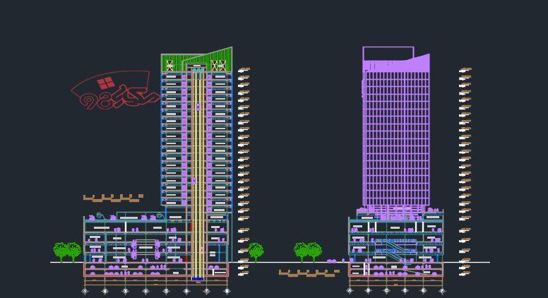 پروژه آماده معماری مجتمع تجاری تفریحی