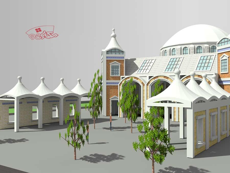 پروژه کامل طراحی مسجد زیبا