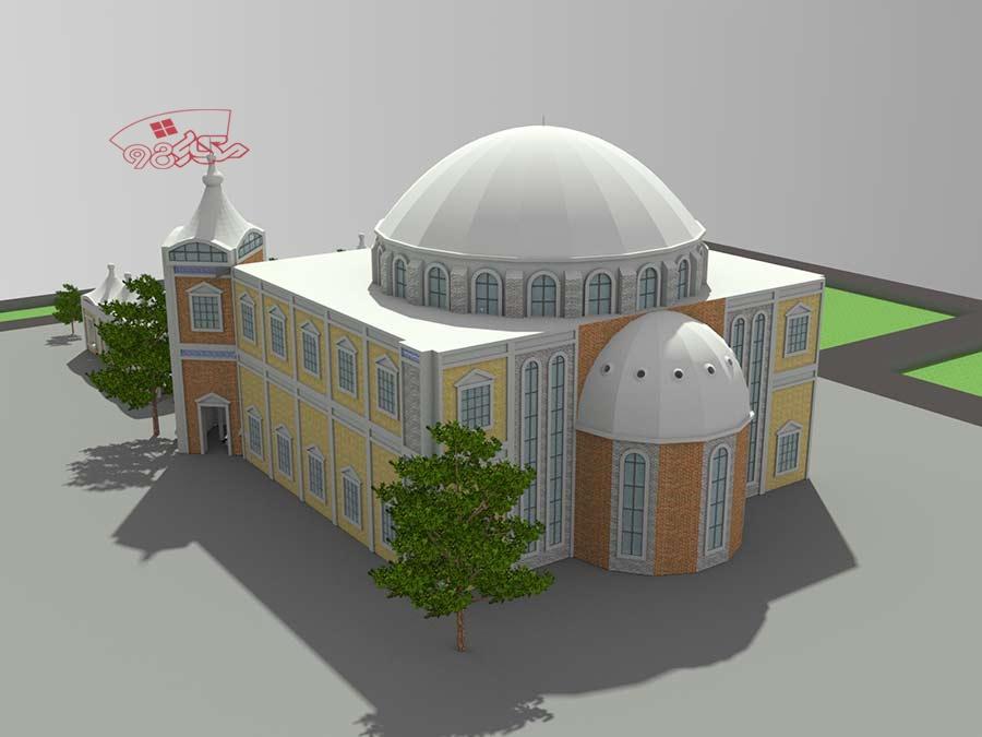پروژه آماده طراحی مسجد زیبا