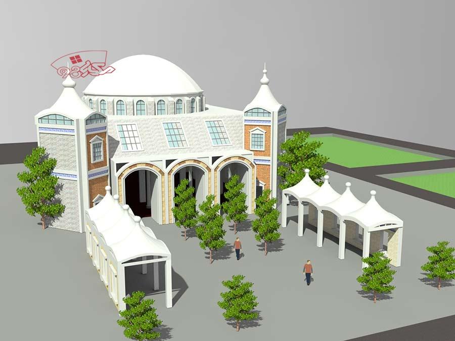 پروژه آماده طراحی مسجد