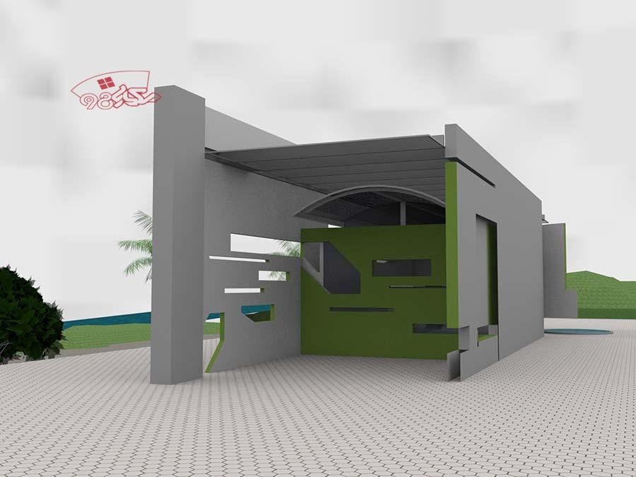 طرح معماری رستوران