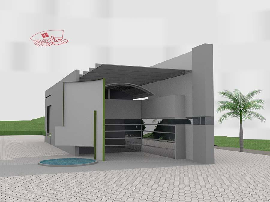 طرح معماری رستوران کامل