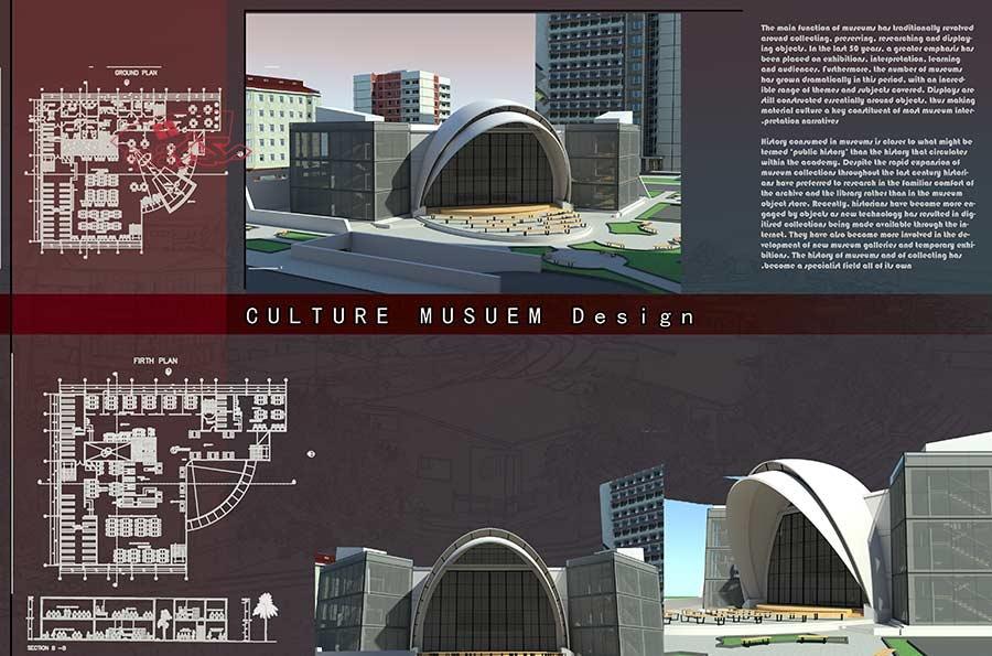 پروژه طراحی موزه چند منظوره فرهنگی
