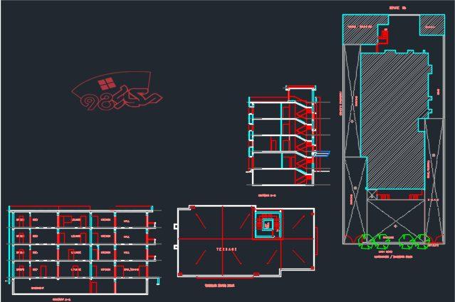 طراحی خوابگاه دانشجویی آپارتمانی