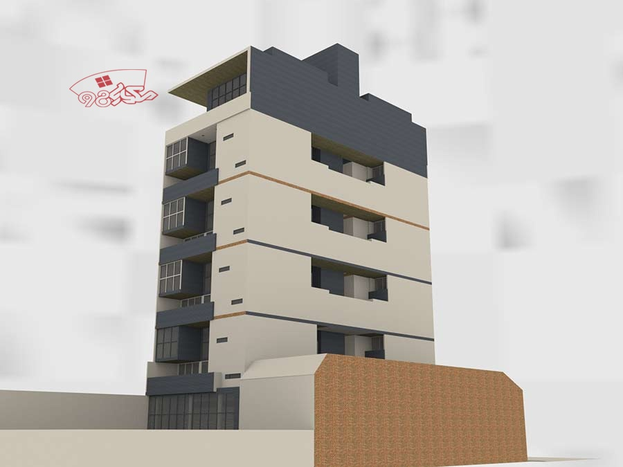 طرح معماری خوابگاه دانشجویی آپارتمانی