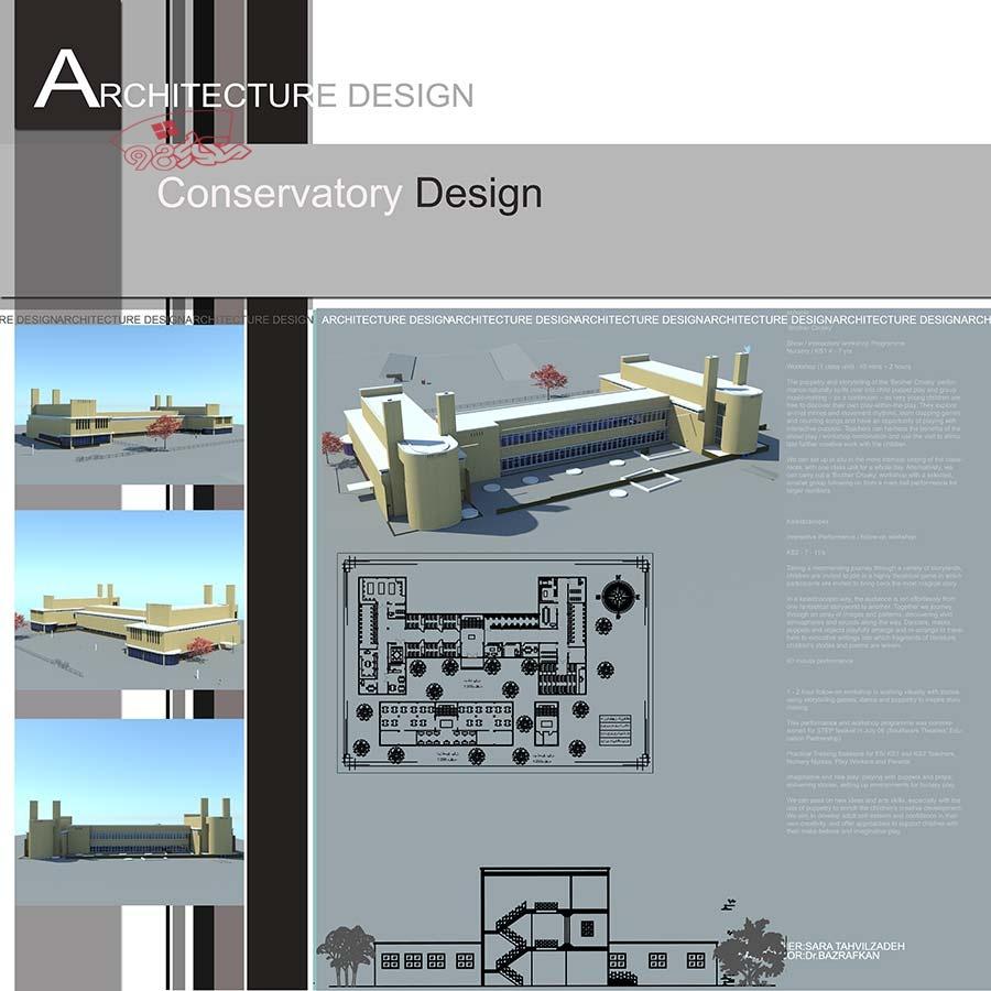 پروژه طراحی هنرستان کامل