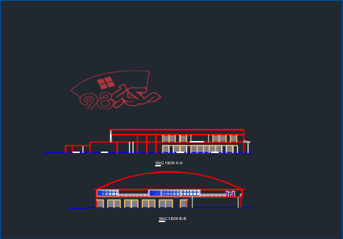 طرح معماری هایپر مارکت کامل