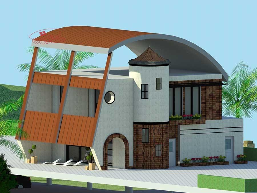 طرح معماری ویلا دوبلکس