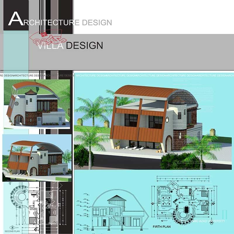 پروژه کامل معماری ویلا دوبلکس