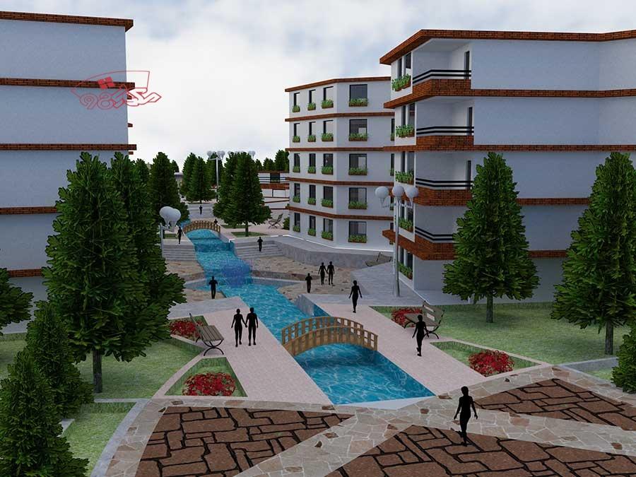 پروژه طراحی شهرک مسکونی کامل