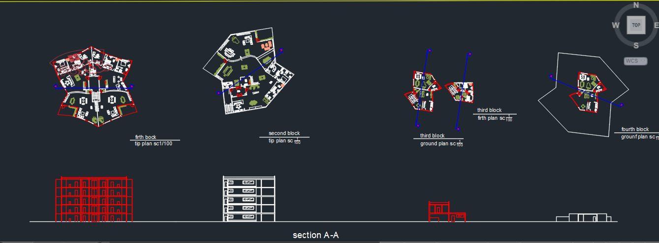 پروژه شهرک مسکونی کامل با تمام جزئیات